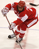 Deziray De Sousa (BU - 8) - The Harvard University Crimson tied the Boston University Terriers 6-6 on Monday, February 7, 2017, in the Beanpot consolation game at Matthews Arena in Boston, Massachusetts.