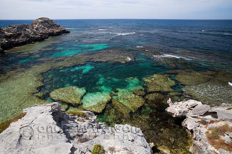 Jeannies Lookout on Rottnest Island, Western Australia, AUSTRALIA.