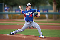Los Angeles Dodgers pitcher Grant Holmes (21) during an instructional league game against the Cincinnati Reds on October 20, 2015 at Cameblack Ranch in Glendale, Arizona.  (Mike Janes/Four Seam Images)