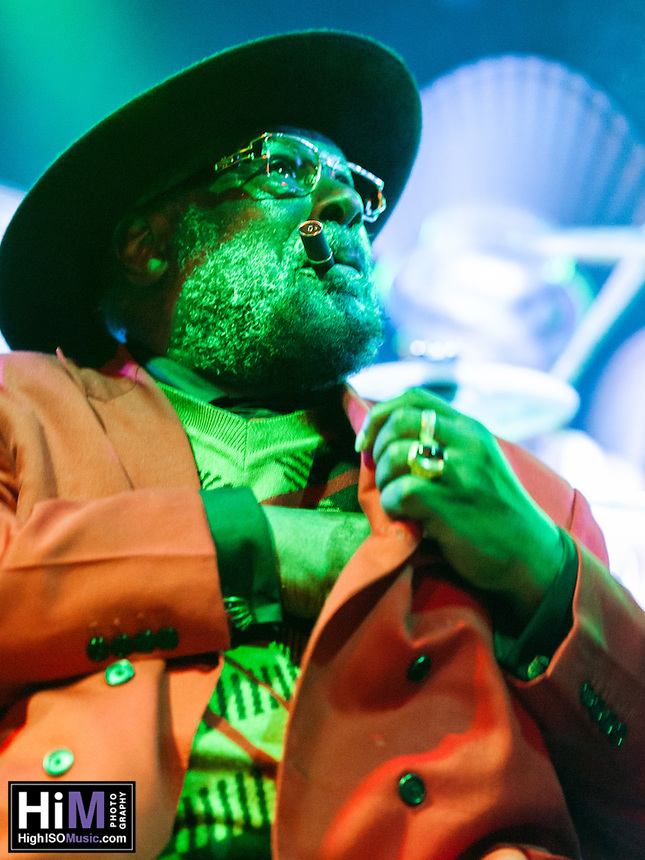 George Clinton and his band play at Tipitinas in New Orleans, LA on December 29, 2013.