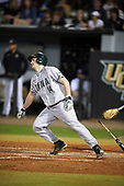 Siena Saints third baseman Brian Kelly (14) during a game against the UCF Knights on February 17, 2017 at UCF Baseball Complex in Orlando, Florida.  UCF defeated Siena 17-6.  (Mike Janes/Four Seam Images)
