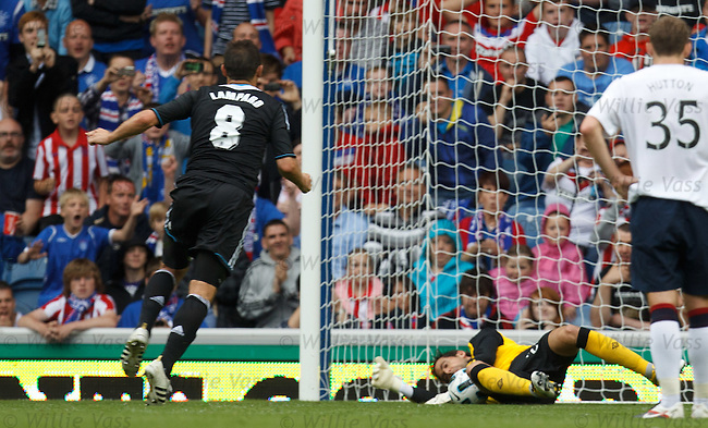Frank Lampard sees his penalty saved by Neil Alexander