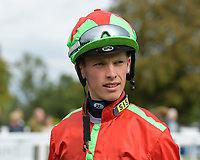 Jockey Luke Catton during Racing at Salisbury Racecourse on 5th September 2019