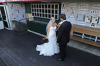 Marc and Christine Wedding: Angels Stadium Wedding in Anaheim Calif., on Aug. 21, 2010
