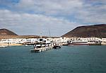Caleta de Sebo harbour and village La Isla Graciosa, Lanzarote, Canary Islands, Spain