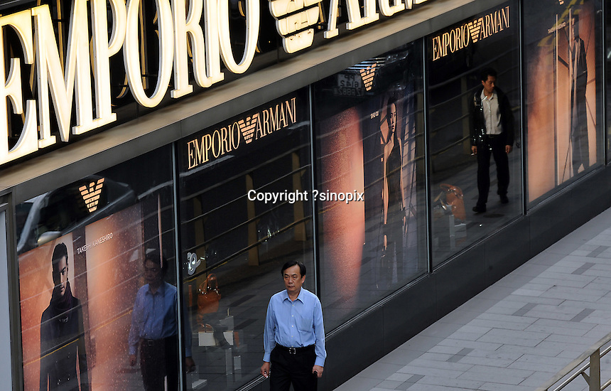 The flagship store for Emporio Armani in Central District, Hong Kong.....................