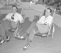 file photo circa 1939, FBI Director Edgar J Hoover and assistant Clive Tolson