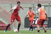 SAO PAULO, 24 DE MARCO DE 2013 - TREINO SAO PAULO - O jogador Lucio durante treino do São Paulo, no CT da Barra Funda, região oeste da capital, na manha desta segunda feira, 25. (FOTO: ALEXANDRE MOREIRA / BRAZIL PHOTO PRESS)