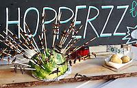 Nederland Amsterdam 2015 11 28. Foodfestival met food trucks in de Rai. Bugzz, producten met insecten. Foto Berlinda van Dam / Hollandse Hoogte