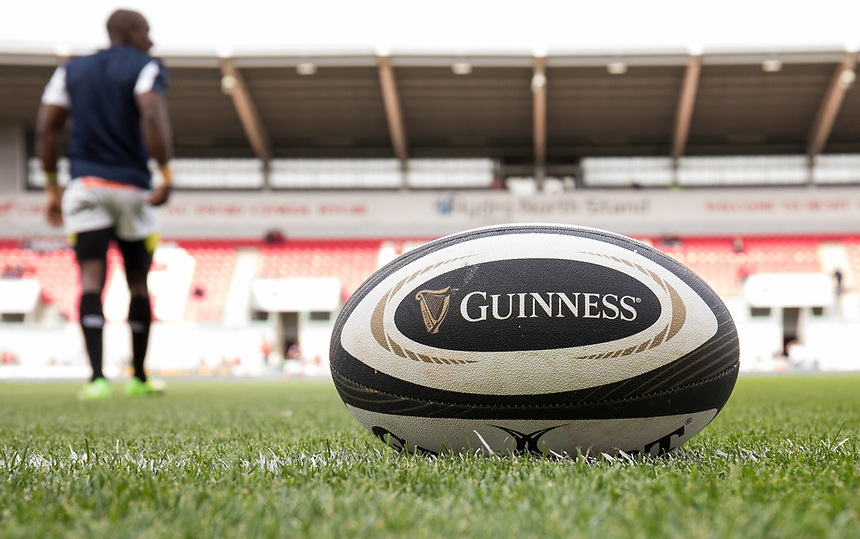 A general view of Parc Y Scarlets, home of Scarlets showing the match ball<br /> <br /> Photographer Simon King/CameraSport<br /> <br /> Guinness Pro14 Round 1 - Scarlets v Southern Kings - Saturday 2nd September 2017 - Parc y Scarlets - Llanelli, Wales<br /> <br /> World Copyright &copy; 2017 CameraSport. All rights reserved. 43 Linden Ave. Countesthorpe. Leicester. England. LE8 5PG - Tel: +44 (0) 116 277 4147 - admin@camerasport.com - www.camerasport.com