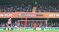 Bolton Wanderers fans watch on during the first half<br /> <br /> Photographer Alex Dodd/CameraSport<br /> <br /> The EFL Sky Bet Championship - Brentford v Bolton Wanderers - Saturday 13th January 2018 - Griffin Park - Brentford<br /> <br /> World Copyright &copy; 2018 CameraSport. All rights reserved. 43 Linden Ave. Countesthorpe. Leicester. England. LE8 5PG - Tel: +44 (0) 116 277 4147 - admin@camerasport.com - www.camerasport.com