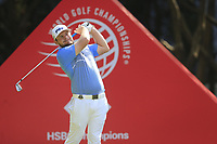 Tyrrell Hatton (ENG) on the 3rd tee during the 2nd round of the WGC HSBC Champions, Sheshan Golf Club, Shanghai, China. 01/11/2019.<br /> Picture Fran Caffrey / Golffile.ie<br /> <br /> All photo usage must carry mandatory copyright credit (© Golffile   Fran Caffrey)