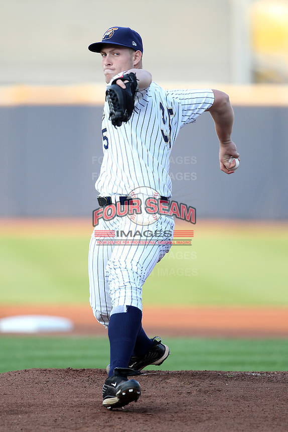 Lake County Captains pitcher Jason Knapp (35) during a game vs. the Bowling Green Hot Rods at Classic Park in Eastlake, Ohio;  August 20, 2010.   Lake County defeated Bowling Green 5-3.  Photo By Mike Janes/Four Seam Images