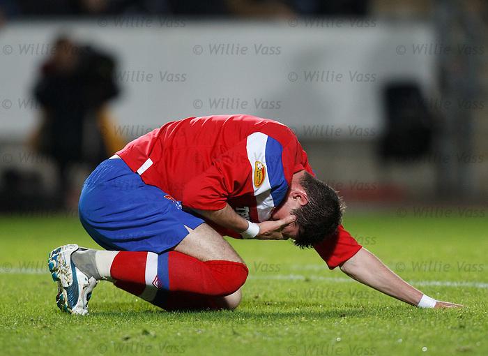 Kyle Lafferty down injured