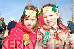 PARADE: Looking good at the St Patrick's Day Parade in Milltown were Eva Clendennon and Lyra McCarthy.