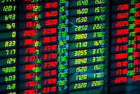 Shenzhen Stock Exchange trading board, Shanghai, China