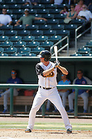 Jacksonville Suns second baseman Danny Black (34) at bat during a game against the Tennessee Smokies at Bragan Field on the Baseball Grounds of Jacksonville on June 13, 2015 in Jacksonville, Florida.  Tennessee defeated Jacksonville 12-3. (Robert Gurganus/Four Seam Images)