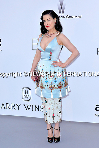 12.05.2015, Antibes; France: DITA VON TEESE<br /> attends the Cinema Against AIDS amfAR gala 2015 held at the Hotel du Cap, Eden Roc in Cap d'Antibes.<br /> MANDATORY PHOTO CREDIT: &copy;Thibault Daliphard/NEWSPIX INTERNATIONAL<br /> <br /> (Failure to credit will incur a surcharge of 100% of reproduction fees)<br /> <br /> **ALL FEES PAYABLE TO: &quot;NEWSPIX  INTERNATIONAL&quot;**<br /> <br /> Newspix International, 31 Chinnery Hill, Bishop's Stortford, ENGLAND CM23 3PS<br /> Tel:+441279 324672<br /> Fax: +441279656877<br /> Mobile:  07775681153<br /> e-mail: info@newspixinternational.co.uk