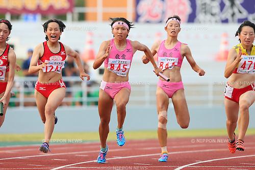 Haruko Ishizuka, JULY 29, 2015 - Athletics : 2015 All-Japan Inter High School Championships, Women's 4100mR at Kimiidera Athletic Stadium, Wakayama, Japan. (Photo by YUTAKA/AFLO SPORT)