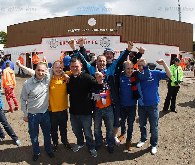 Rangers fans in Brechin