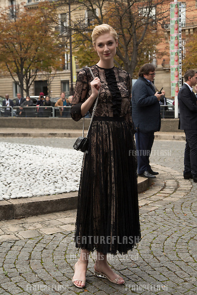 Elizabeth Debicki attend Miu Miu Show Front Row - Paris Fashion Week  2016.<br /> October 7, 2015 Paris, France<br /> Picture: Kristina Afanasyeva / Featureflash