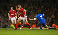 1st February 2020; Millennium Stadium, Cardiff, Glamorgan, Wales; International Rugby, Six Nations Rugby, Wales versus Italy; Ryan Elias of Wales evades the attempted tackle by Federico Zani of Italy
