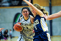 Action from the 2019 Schick AA Girls' Secondary Schools Basketball National Championship 15th place playoff between Meville High School and Rangi Rurur Girls' College at the Central Energy Trust Arena in Palmerston North, New Zealand on Saturday, 5 October 2019. Photo: Dave Lintott / lintottphoto.co.nz
