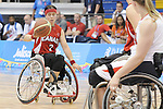 November 18 2011 - Guadalajara, Mexico:   Cindy Ouellet of Team Canada while taking on Team USA in the Gold Medal Game in the CODE Alcalde Sports Complex at the 2011 Parapan American Games in Guadalajara, Mexico.  Photos: Matthew Murnaghan/Canadian Paralympic Committee