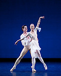 "English National Ballet. ""Celebration"". Thomas Edur and Agnes Oaks gala performance at Sadlers Wells in tribute to their carreer. ""Impromptu"". Choreography: Derek Deane."