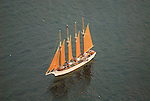 Aerial view of Schooner outside of Bar Harbor Maine Aerial view of Nautical Vessel Aerial view of Nautical Vessel Aerial view of Nautical Vessel Aerial view of Nautical Vessel