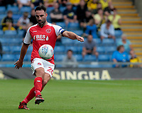 Fleetwood Town's Craig Morgan in action<br /> <br /> Photographer David Shipman/CameraSport<br /> <br /> The EFL Sky Bet League One - Oxford United v Fleetwood Town - Saturday August 11th 2018 - Kassam Stadium - Oxford<br /> <br /> World Copyright &copy; 2018 CameraSport. All rights reserved. 43 Linden Ave. Countesthorpe. Leicester. England. LE8 5PG - Tel: +44 (0) 116 277 4147 - admin@camerasport.com - www.camerasport.com