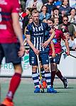 DEN HAAG -  Niels Blaak (HDM)   tijdens  de eerste Play out wedstrijd hoofdklasse heren ,  HDM-HCKZ (1-2) . COPYRIGHT KOEN SUYK