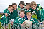 Michael Carroll and Mary O'Sullivan, with back l-r David Sheehy, Steven Mason, Conor Horgan, Sean Joy and Jamie Lynch - Members of the Ballydonoghue team taking part in the Jim Corridon Tournament at Frank Sheehy Park last Sunday.   Copyright Kerry's Eye 2008