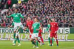01.12.2018, Weser Stadion, Bremen, GER, 1.FBL, Werder Bremen vs FC Bayern Muenchen, <br /> <br /> DFL REGULATIONS PROHIBIT ANY USE OF PHOTOGRAPHS AS IMAGE SEQUENCES AND/OR QUASI-VIDEO.<br /> <br />  im Bild<br /> <br /> Nuri Sahin (Werder Bremen #17)<br /> Niklas Moisander (Werder Bremen #18)<br /> Robert Lewandowski (FC Bayern Muenchen #09)<br /> Niklas S&uuml;le / Suele (FC Bayern Muenchen #04)<br /> <br /> Foto &copy; nordphoto / Kokenge
