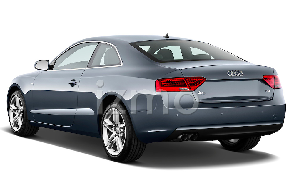 Rear three quarter view of a 2012 Audi A5 S Line Coupe Stock Photo