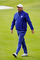 Thomas Bjorn (Team Europe Captain) after the singles matches at the Ryder Cup, Le Golf National, Ile-de-France, France. 30/09/2018.<br /> Picture Fran Caffrey / Golffile.ie<br /> <br /> All photo usage must carry mandatory copyright credit (&copy; Golffile | Fran Caffrey)