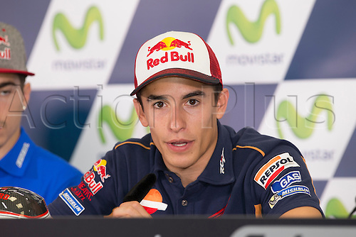 24.09.2016. Motorland Aragon, Alcaniz, Spain. MotoGP Grand Prix of Aragon. Press conference.  Marc Marquez (ESP), Repsol Honda Team rider,