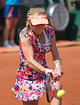 Ekaterina Makarova (RUS) loses to Sloane Stephens, (USA) 6-3, 6-4 at  Roland Garros being played at Stade Roland Garros in Paris, France on May 31, 2014