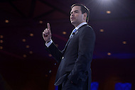 National Harbor, MD - March 5, 2016: U.S. Senator Marco Rubio addresses attendees at the 2016 Conservative Political Action Conference, hosted by the American Conservative Union, at the Gaylord National Hotel in National Harbor, MD, March 5, 2016.   (Photo by Don Baxter/Media Images International)