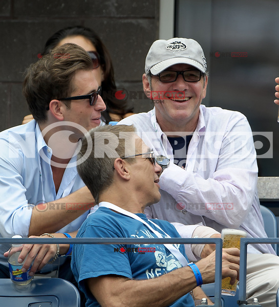 September 2, 2012: Actors Kevin Spacey (top-R) and Tony Danza (bottom) attend Day 7 of the 2012 U.S. Open Tennis Championships at the USTA Billie Jean King National Tennis Center in Flushing, Queens, New York, USA. Credit: mpi105/MediaPunch Inc. /NortePhoto.com<br /> <br /> **CREDITO*OBLIGATORIO**<br /> *No*Venta*A*Terceros*<br /> *No*Sale*So*third*<br /> *** No Se Permite Hacer Archivo**