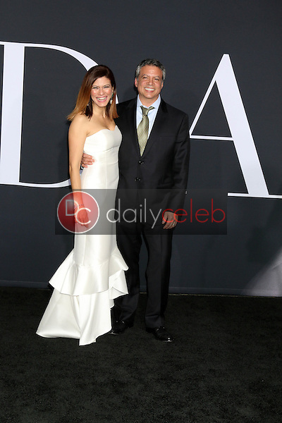 """Angelique De Luca, Michael De Luca<br /> at the """"Fifty Shades Darker"""" World Premiere, The Theater at Ace Hotel, Los Angeles, CA 02-02-17<br /> David Edwards/DailyCeleb.com 818-249-4998"""