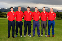 The Westport Team for the Final of the Junior Cup in the AIG Cups & Shields Connacht Finals 2019 in Westport Golf Club, Westport, Co. Mayo on Thursday 8th August 2019.<br /> <br /> Ronan Mahon, Ronan Hehir, Tony Bree (Team Captain), Shane Larkin, Anto Browne and Fergus Rothwell.<br /> <br /> Picture:  Thos Caffrey / www.golffile.ie<br /> <br /> All photos usage must carry mandatory copyright credit (© Golffile | Thos Caffrey)