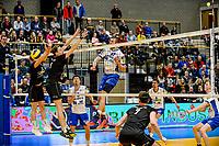 GRONINGEN - Volleybal , Lycurgus - Taurus, kampioenspoule, seizoen 2018-2019, 13-04-2019, smash Lycurgus speler Niels de Vries