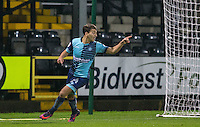 Scott Kashket of Wycombe Wanderers celebrates his goal during the Sky Bet League 2 match between Notts County and Wycombe Wanderers at Meadow Lane, Nottingham, England on 10 December 2016. Photo by Andy Rowland.