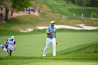 Dustin Johnson (USA) approaches the green to a roaring crowd on 5 during round 4 of the 2019 PGA Championship, Bethpage Black Golf Course, New York, New York,  USA. 5/19/2019.<br /> Picture: Golffile | Ken Murray<br /> <br /> <br /> All photo usage must carry mandatory copyright credit (© Golffile | Ken Murray)