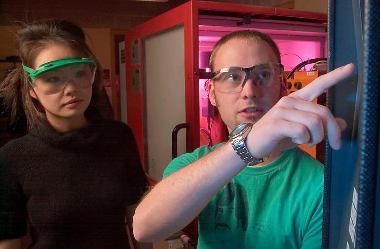 Jesse Megenhardt(green shirt), Yurika Tanizanki (Female)