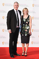Greg Davies and sister<br /> at the 2016 BAFTA TV Awards, Royal Festival Hall, London<br /> <br /> <br /> &copy;Ash Knotek  D3115 8/05/2016