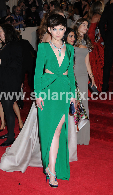"**ALL ROUND PICTURES FROM SOLARPIX.COM**                                             **SYNDICATION RIGHTS FOR UK, AUSTRALIA, DENMARK, PORTUGAL, S. AFRICA, SPAIN & DUBAI (U.A.E) & ASIA (EXCLUDING JAPAN) ONLY**                                                                                  Caption:  ""Alexander McQueen: Savage Beauty"" Costume Institute Gala at the Metropolitan Museum of Art  Arrivals The Metropolitan Museum of Art New York City, NY, USA                                                                             This pic:   Ginnifer Goodwin                                                                                           JOB REF:13262        PHZ       DATE: 02.05.2011                                                           **MUST CREDIT SOLARPIX.COM OR DOUBLE FEE WILL BE CHARGED**                                                                      **MUST AGREE FEE BEFORE ONLINE USAGE**                               **CALL US ON: +34 952 811 768 or LOW RATE FROM UK 0844 617 7637**"