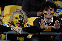 Fans during the Super Rugby - Hurricanes v Chiefs at Westpac Stadium, Wellington, New Zealand on Saturday  27 April 2019. <br /> Photo by Masanori Udagawa. <br /> www.photowellington.photoshelter.com