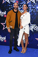 LONDON, UK. March 07, 2019: Marvin Humes & Rochelle Humes arriving for the Global Awards 2019 at the Hammersmith Apollo, London.<br /> Picture: Steve Vas/Featureflash